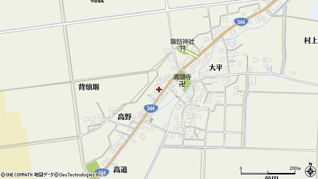 山形県酒田市安田高野4周辺の地図