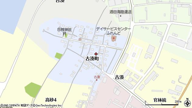 山形県酒田市古湊町周辺の地図