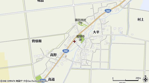 山形県酒田市安田大平142周辺の地図