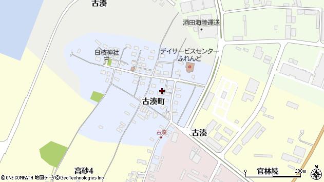 山形県酒田市古湊町7周辺の地図