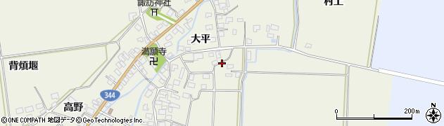 山形県酒田市安田大平27周辺の地図