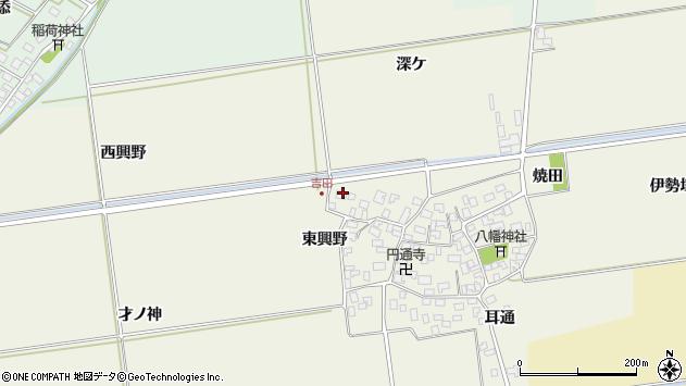 山形県酒田市吉田洞ノ上57周辺の地図
