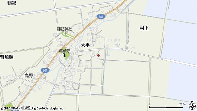 山形県酒田市安田大平26周辺の地図