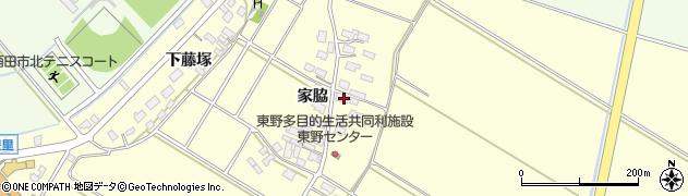 山形県酒田市豊里家脇18周辺の地図