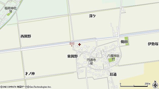 山形県酒田市吉田洞ノ上周辺の地図