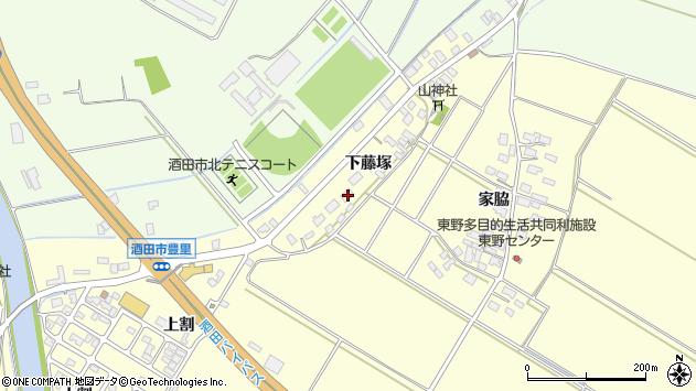 山形県酒田市豊里下藤塚92周辺の地図