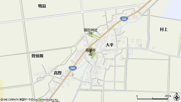 山形県酒田市安田大平147周辺の地図