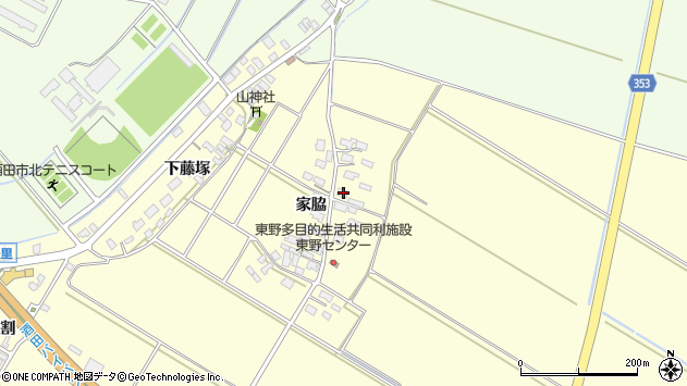 山形県酒田市豊里家脇14周辺の地図