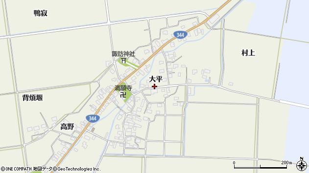 山形県酒田市安田大平53周辺の地図