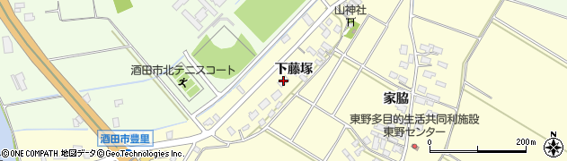 山形県酒田市豊里下藤塚91周辺の地図