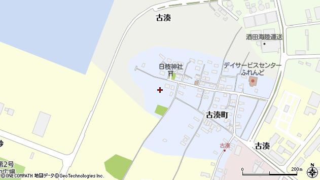 山形県酒田市古湊町5周辺の地図