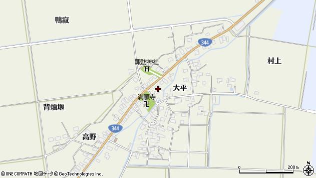 山形県酒田市安田大平148周辺の地図