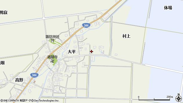 山形県酒田市安田大平22周辺の地図