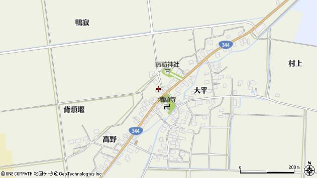 山形県酒田市安田大平151周辺の地図