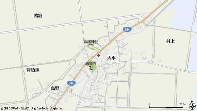 山形県酒田市安田大平206周辺の地図