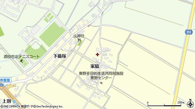 山形県酒田市豊里家脇31周辺の地図