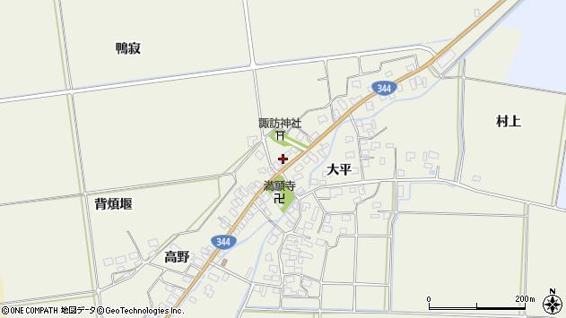 山形県酒田市安田大平153周辺の地図