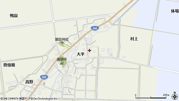 山形県酒田市安田大平11周辺の地図