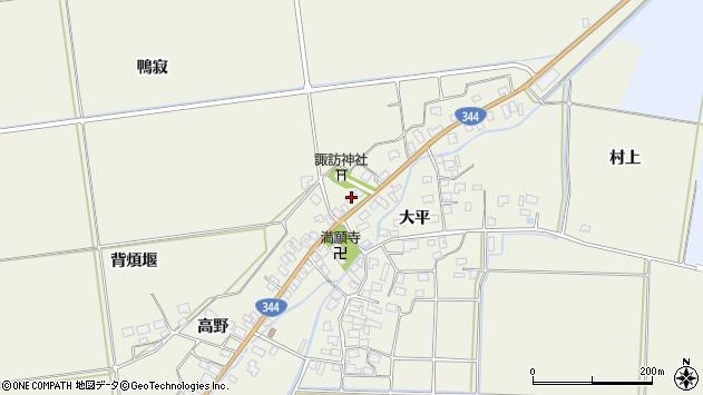 山形県酒田市安田大平205周辺の地図