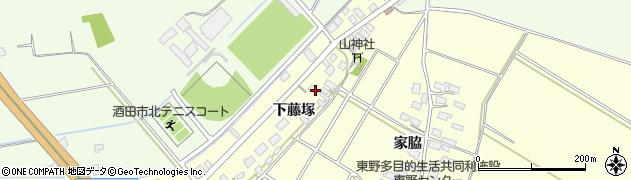 山形県酒田市豊里下藤塚87周辺の地図