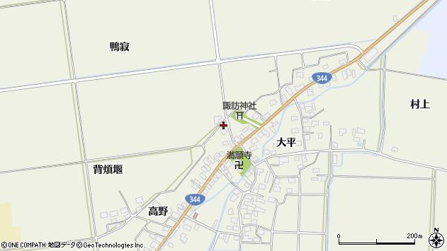 山形県酒田市安田高野15周辺の地図
