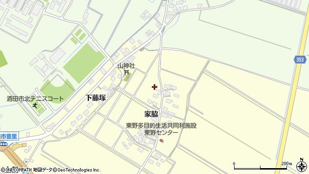 山形県酒田市豊里家脇75周辺の地図