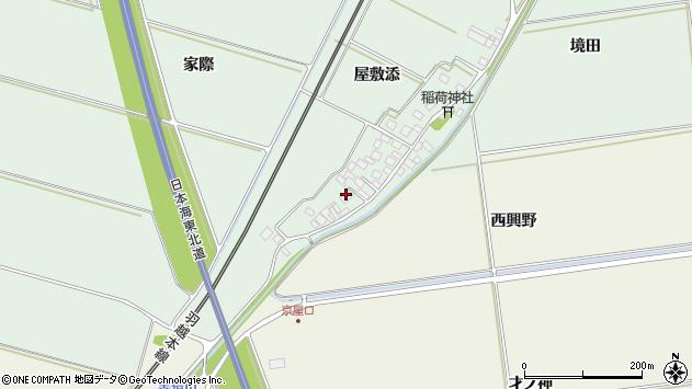 山形県酒田市保岡屋敷添周辺の地図