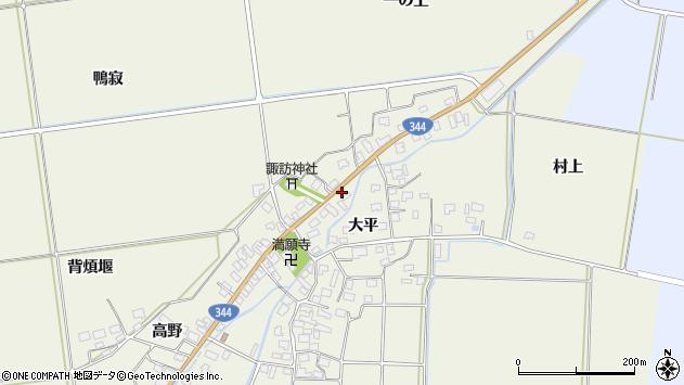山形県酒田市安田大平208周辺の地図