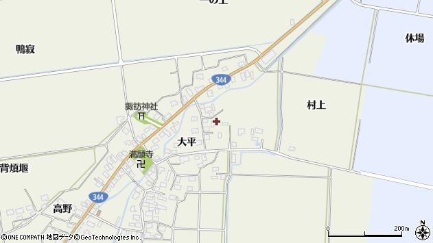 山形県酒田市安田大平36周辺の地図