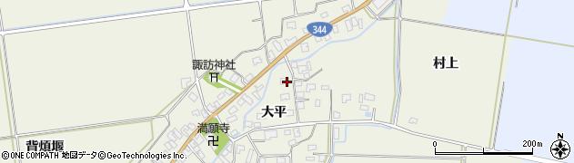 山形県酒田市安田大平44周辺の地図