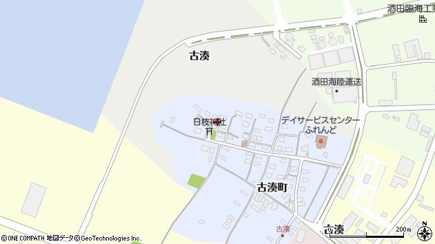 山形県酒田市古湊町12周辺の地図