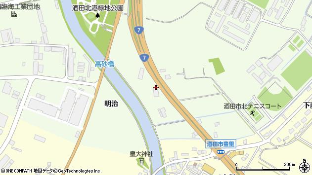山形県酒田市宮海明治17周辺の地図