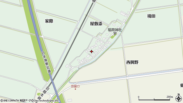 山形県酒田市保岡屋敷添15周辺の地図