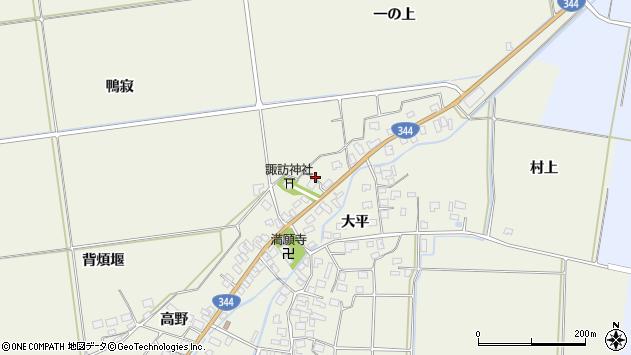 山形県酒田市安田大平199周辺の地図
