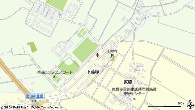 山形県酒田市豊里下藤塚211周辺の地図