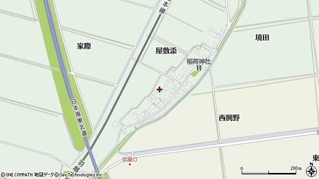 山形県酒田市保岡屋敷添17周辺の地図