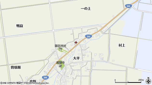 山形県酒田市安田大平209周辺の地図