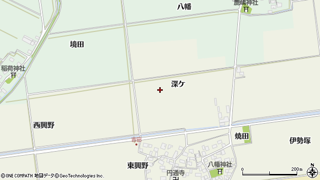 山形県酒田市吉田深ケ周辺の地図