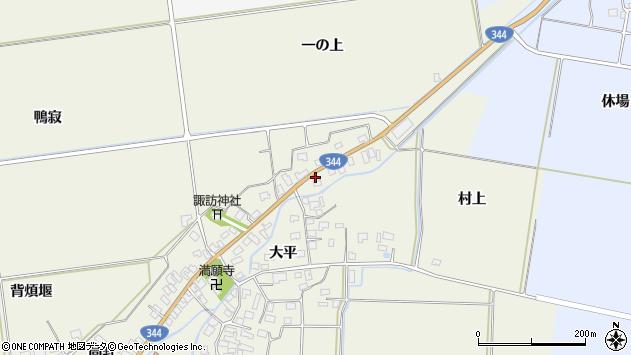 山形県酒田市安田大平215周辺の地図