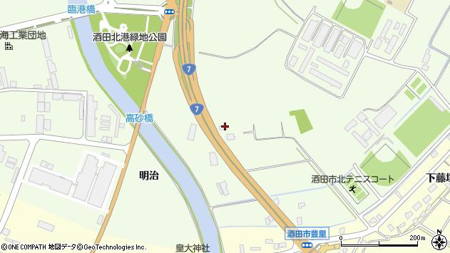 山形県酒田市宮海明治444周辺の地図