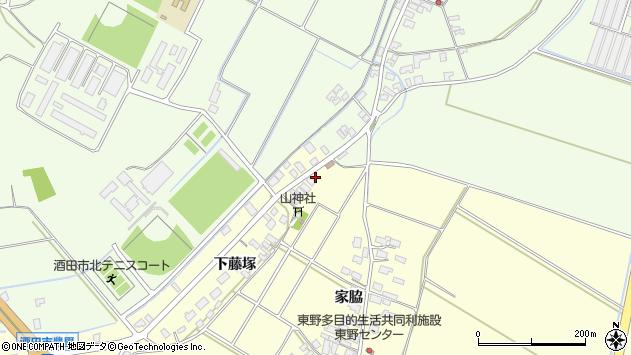 山形県酒田市豊里下藤塚45周辺の地図