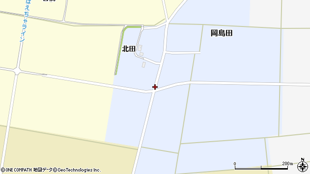 山形県酒田市岡島田北田54周辺の地図