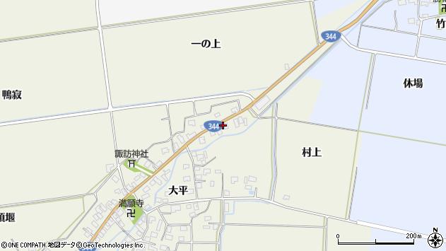 山形県酒田市安田大平225周辺の地図
