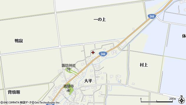山形県酒田市安田大平216周辺の地図