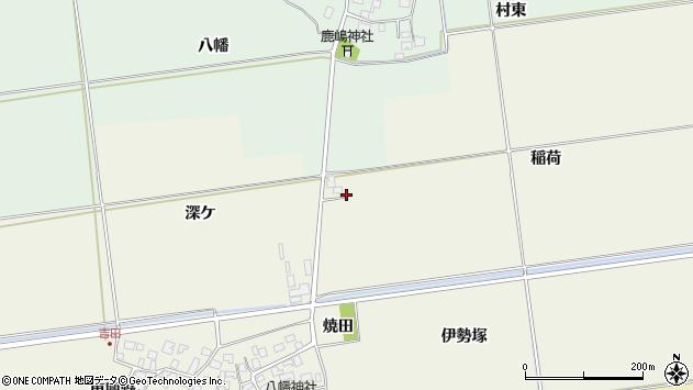 山形県酒田市吉田稲荷80周辺の地図