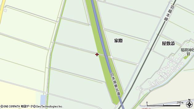 山形県酒田市保岡家際周辺の地図