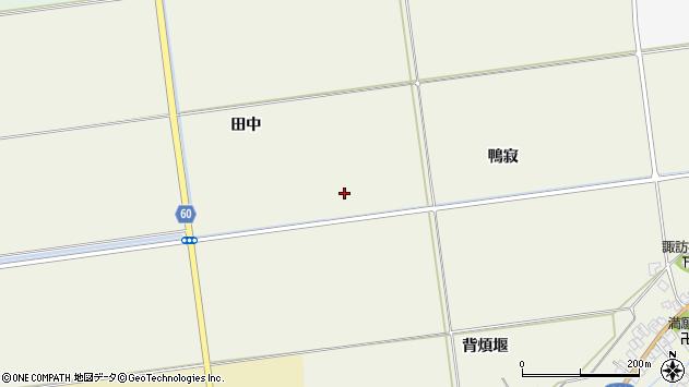 山形県酒田市安田鴨寂周辺の地図