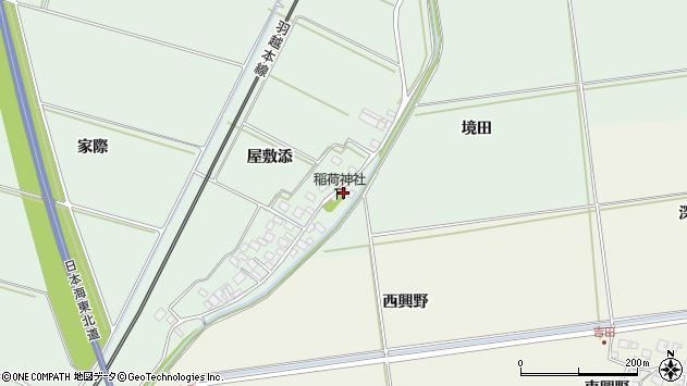 山形県酒田市保岡通端周辺の地図