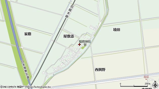 山形県酒田市保岡屋敷添29周辺の地図