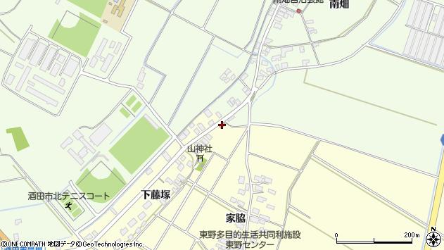 山形県酒田市豊里下藤塚周辺の地図